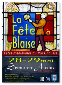 Fête Blaise à Semur dans Ma Bourgogne En détails affiche-fete-a-blaise-2011-218x300