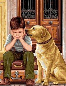 Un homme et son chien ! dans SAGESSE enfant-et-son-chien-231x300