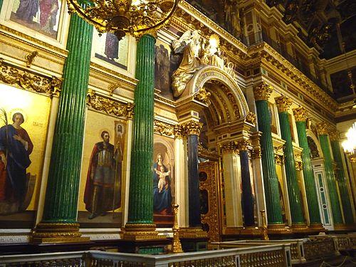 Colonnes de Lapis lazuli à la cathédrale St Isaac